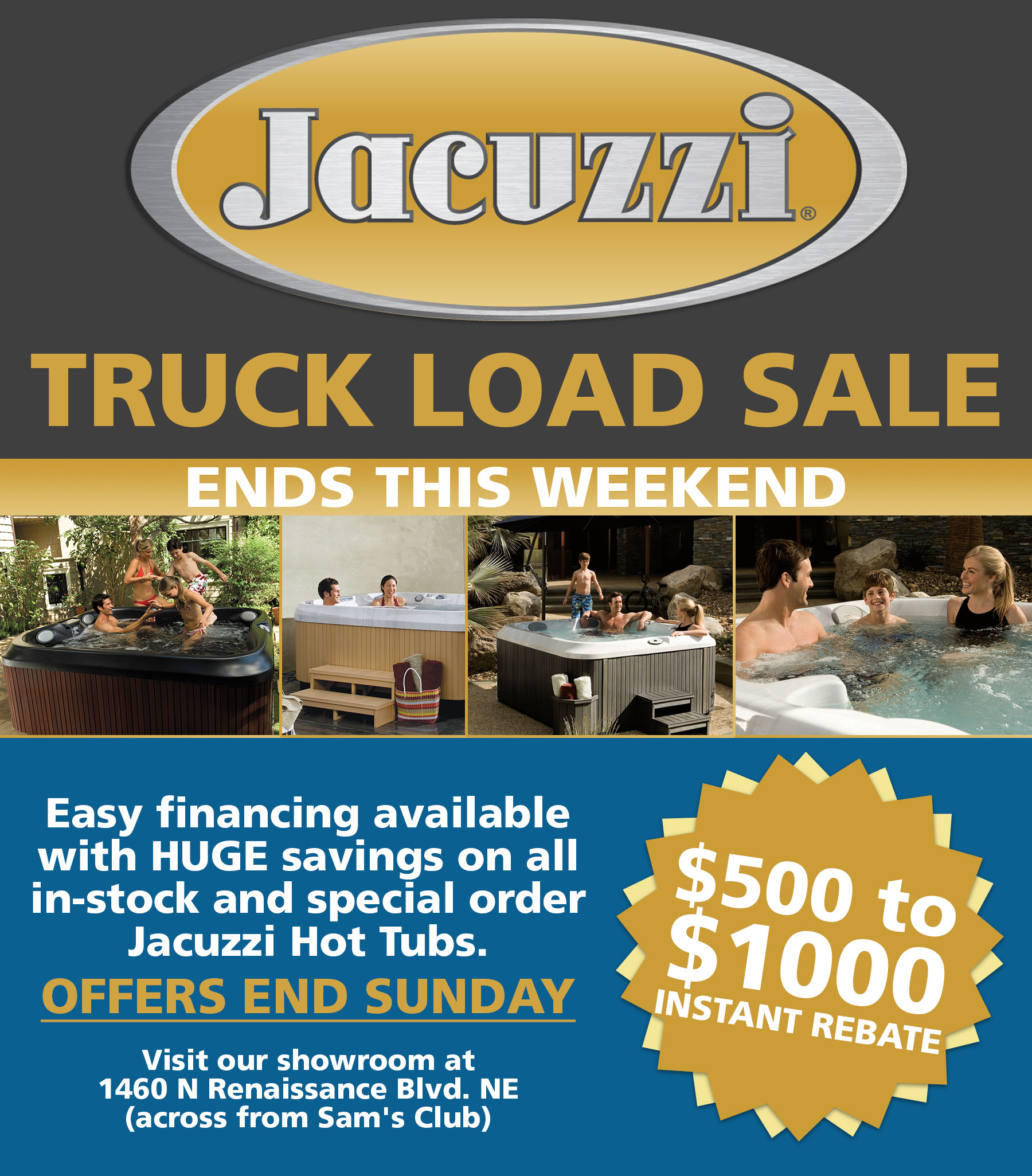 Jacuzzi Truck Load Sale - Dreamstyle Remodeling
